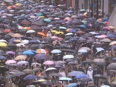 WATCH: Protesters again flood Hong Kong streets