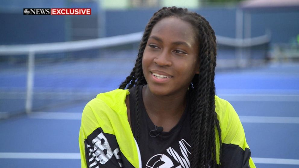 Tennis phenom Coco Gauff said she hopes to be 'the greatest of all time'