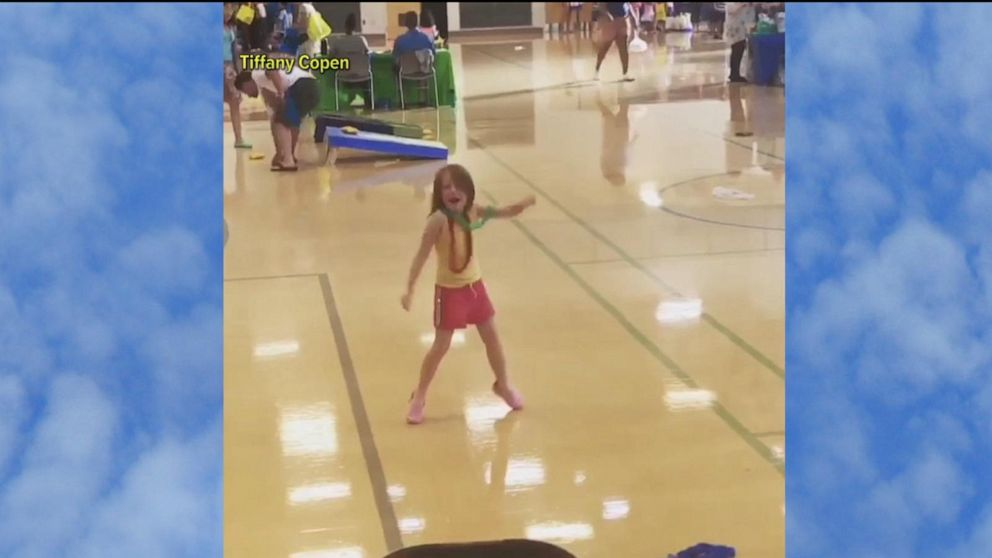 6-year-old can't stop dancing at school party