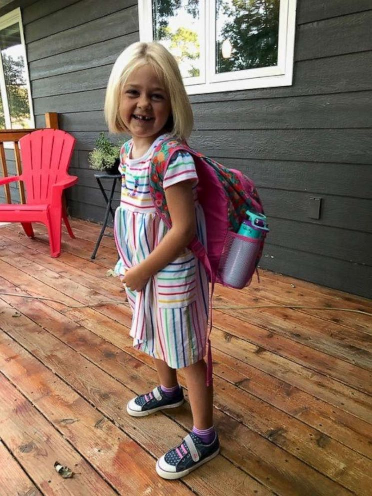 PHOTO: 5-year-old Felicity Moore on her first day of kindergarten.