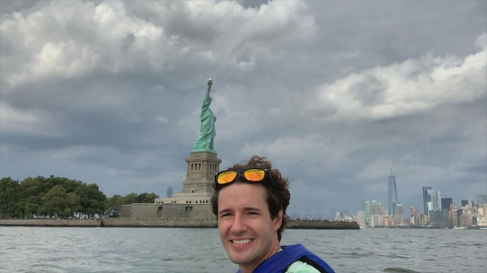 PHOTO: David Pike commutes on a jet ski from Jersey City to Brooklyn every morning.