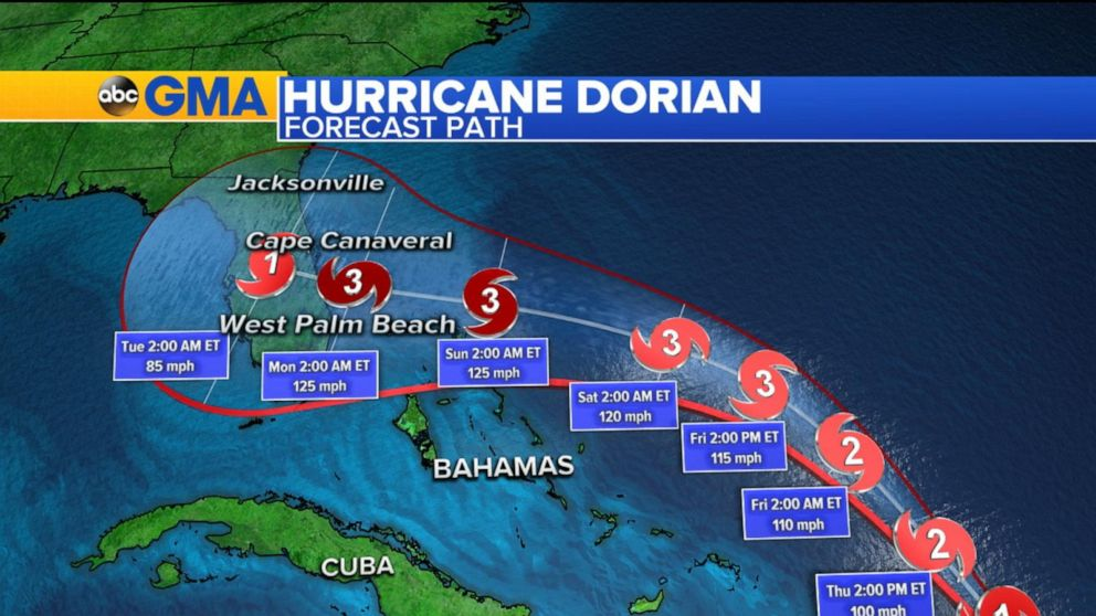 Hurricane Dorian takes aim at US, British Virgin Islands