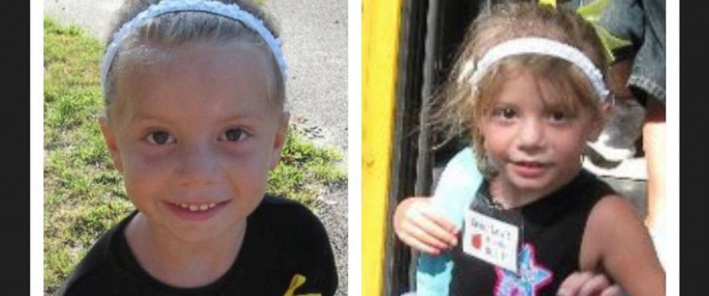 PHOTO: Taylor Lewis of Bayville, New Jersey before and after her first day of kindergarten.