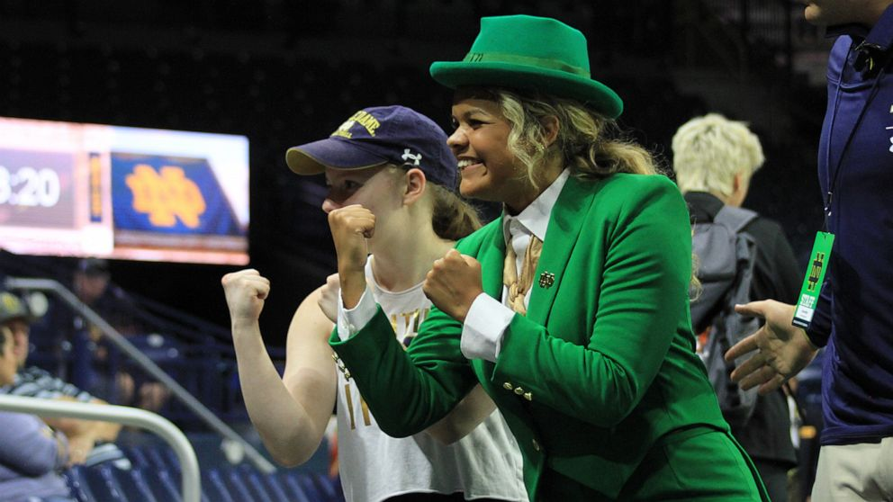 Notre Dame debuts 1st female leprechaun mascot in school's 177-year history