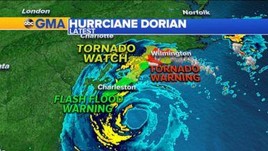 Trump displays altered Dorian forecast map Video - ABC News