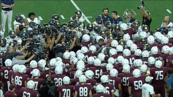 High school football teams rally after El Paso