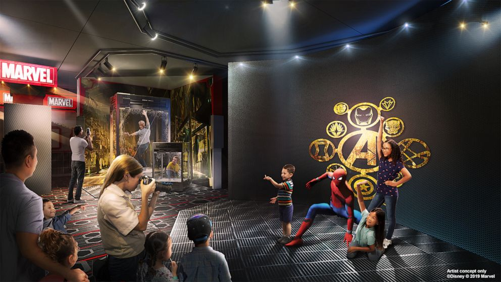 PHOTO: A artist rendering of the heroic encounter experience at the new Marvel hotel coming to Disneyland Paris.