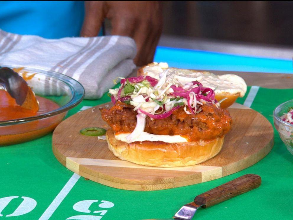 PHOTO: A Cuban style fried chicken sandwich from chef Michelle Bernstein.