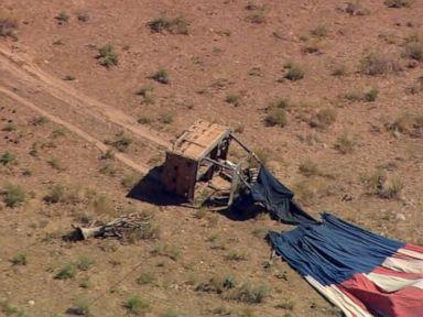 WATCH: 7 people injured after hot air balloon crash
