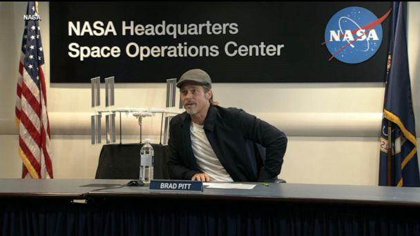 Brad Pitt interviews NASA astronaut on ISS