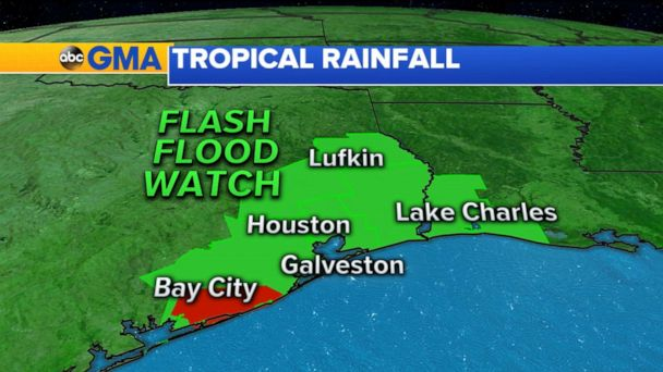 Tropical storm makes landfall in Texas