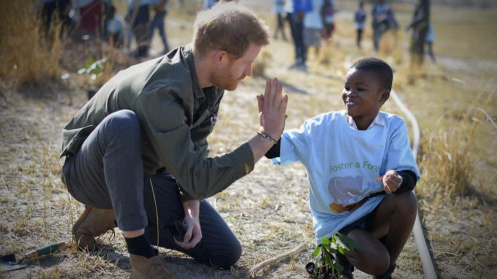 Prince Harry says he's 'deeply connected' to Botswana thanks to visit there when Princess Diana died