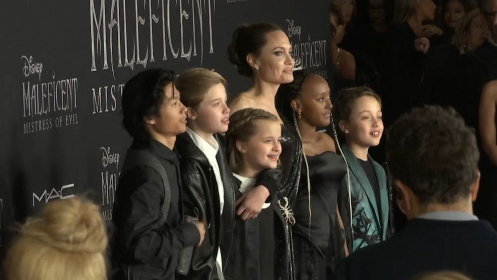 Angelina Jolie S Kids Join Her On Maleficent Mistress Of