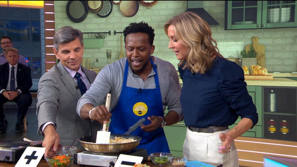 Kevin Curry of 'Fit Men Cook' shares easy fried rice and quesadilla recipes