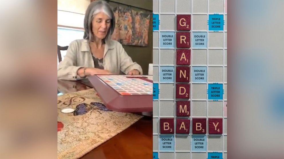Couple surprises mom with Scrabble pregnancy announcement