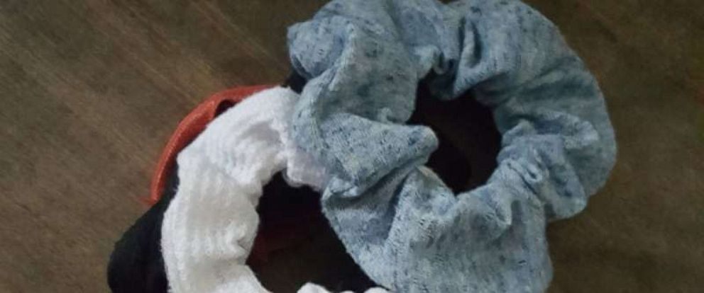 PHOTO: Emily Covingtons post about scrunchies went viral on Facebook.