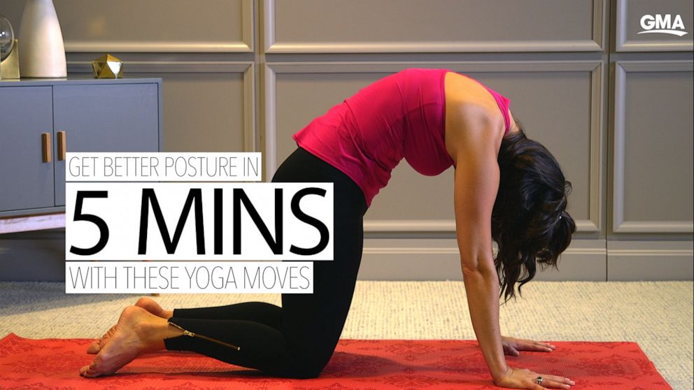Improve your posture in 5 minutes with these yoga poses