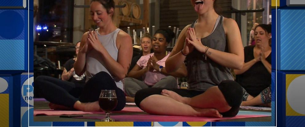 VIDEO: New yoga craze is all the rage