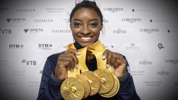 Simone Biles makes history at world championships