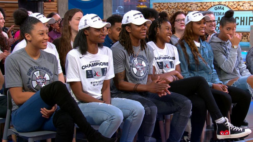 Robin Roberts chats with WNBA champions Washington Mystics