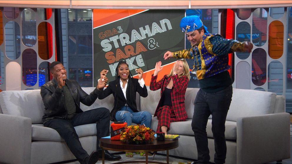 Jimmy Fallon tries on genie costume