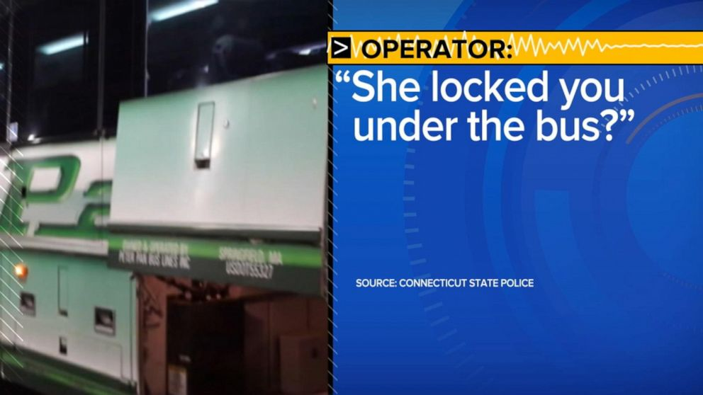 Police release 911 call from woman locked in luggage compartment of Peter Pan bus: 'I'm so scared'