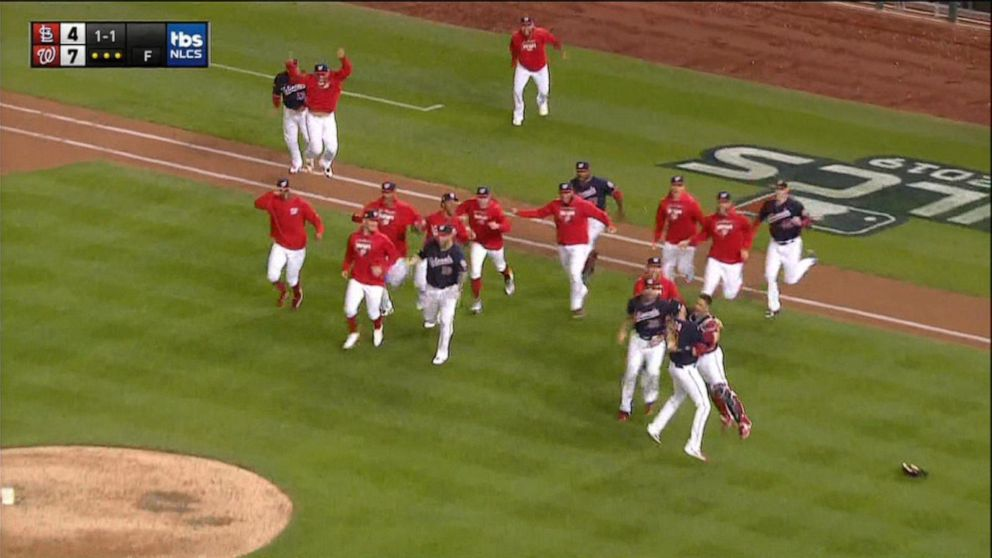 Nationals head to franchise's 1st World Series