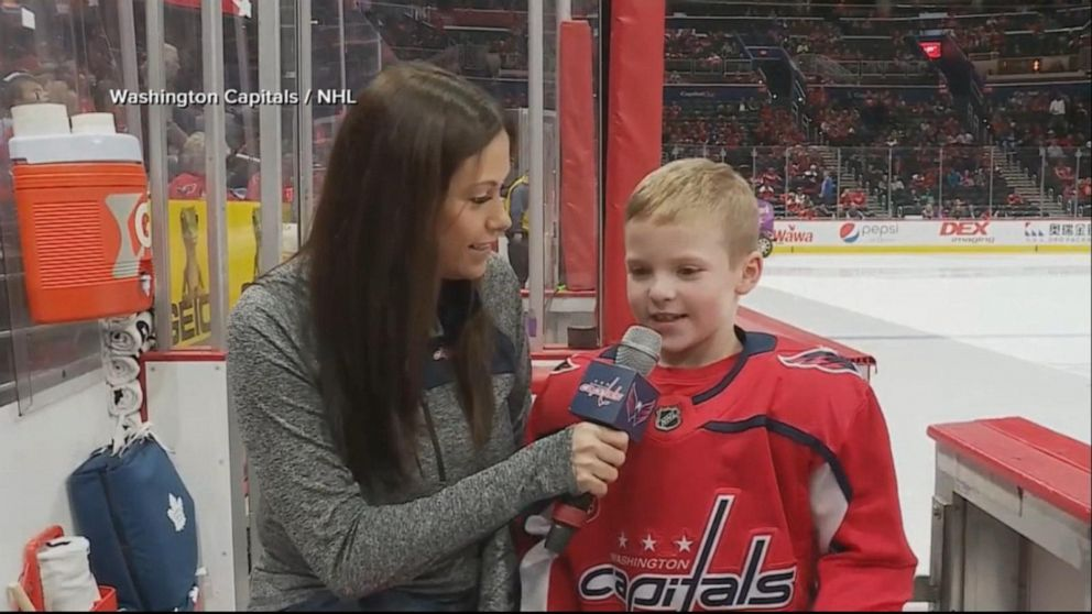 Youth hockey player steals the show at NHL game
