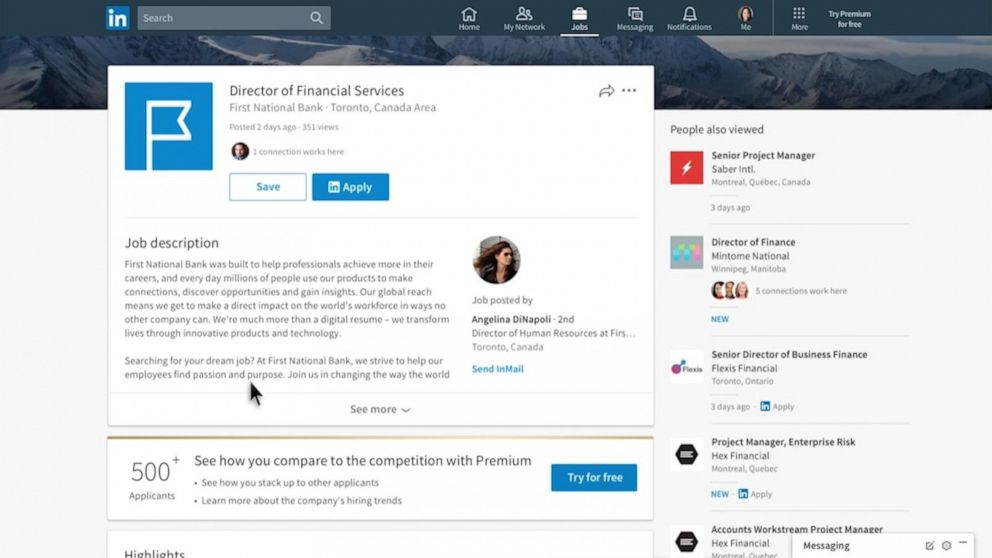 PHOTO: LinkedIn job hunting