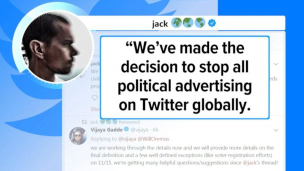 Twitter to ban all political advertising