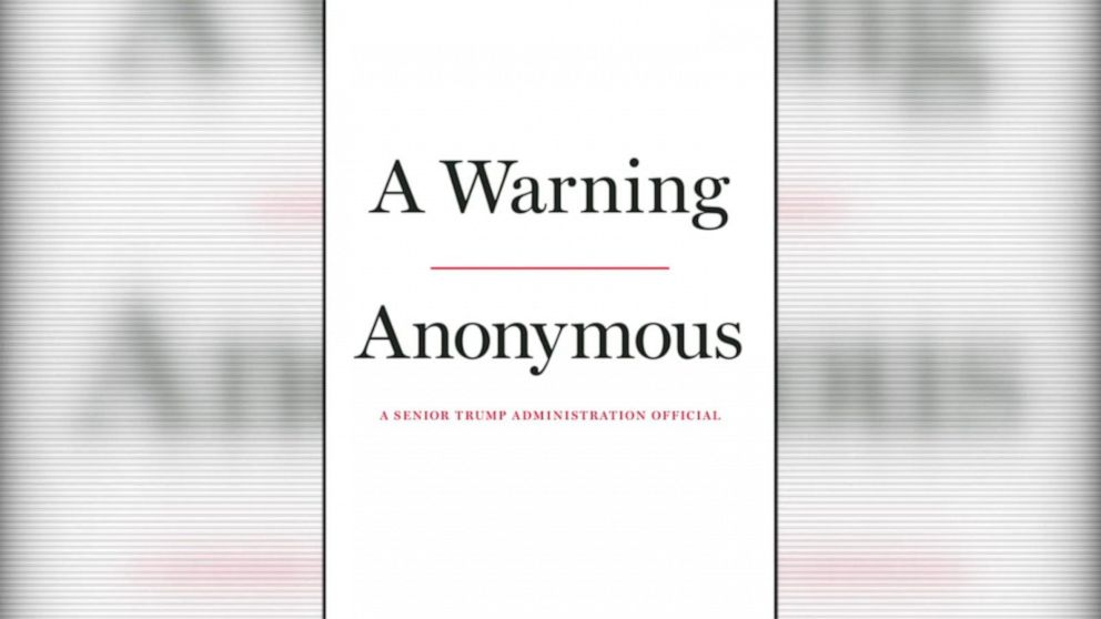 'Anonymous' author: Trump 'danger to the country,' will reveal name before election