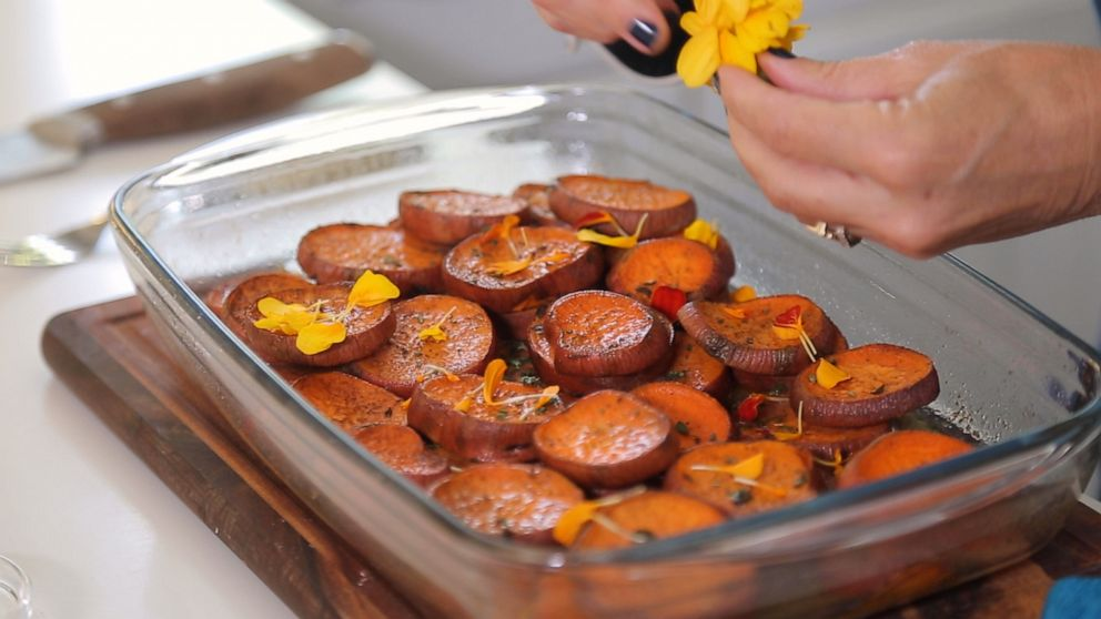 Thanksgiving guests will love these citrus and herb sweet potatoes more than turkey
