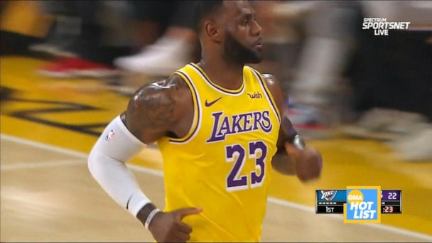 'GMA' Hot List: LeBron James makes history with triple-doubles against every NBA team