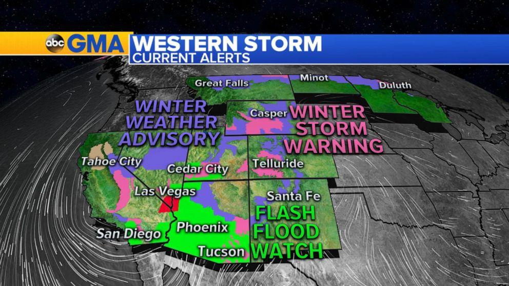 Flash flooding, rare hail strike Southwest before storm moves east