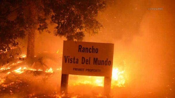 Residents flee as fires burn in Santa Barbara