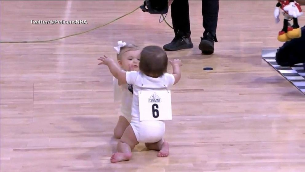 Baby Race Steals The Show At Nba Game