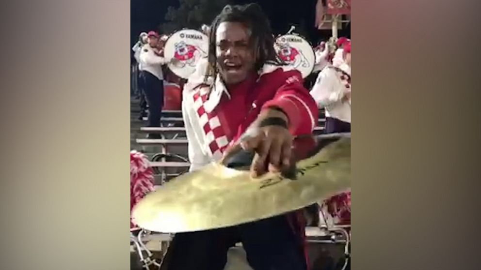 Marching band member's cymbal performance is giving us life