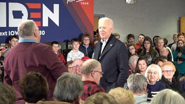 Joe Biden's fiery exchange with voter on campaign trail