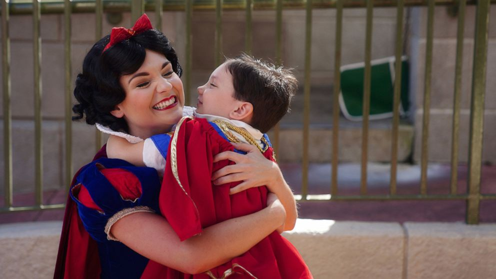 Boy has sweetest interactions with Disney princess characters