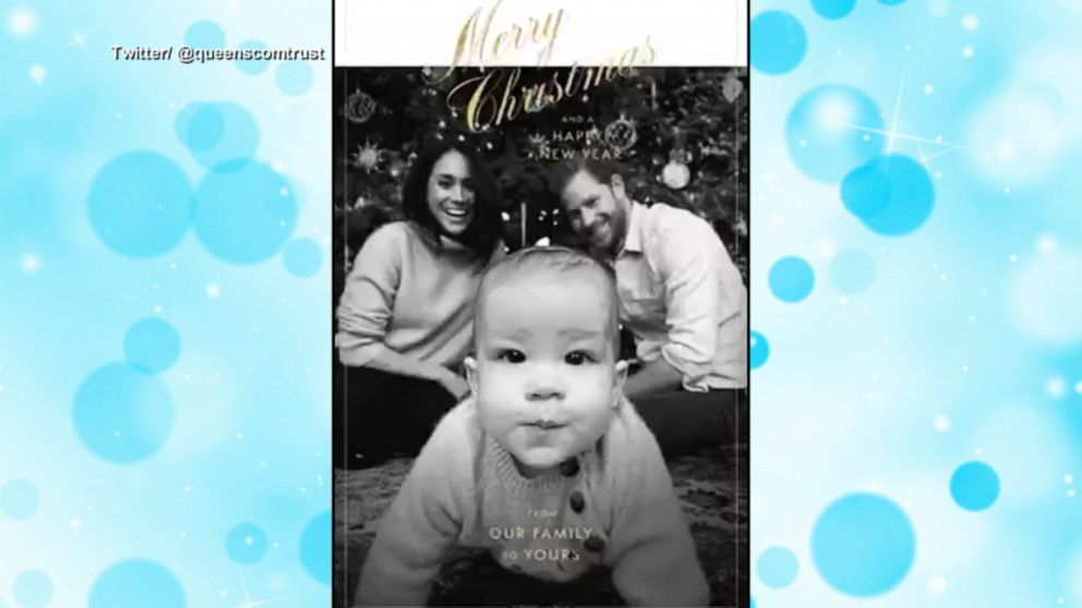prince harry and meghan s christmas card revealed video abc news prince harry and meghan s christmas card revealed
