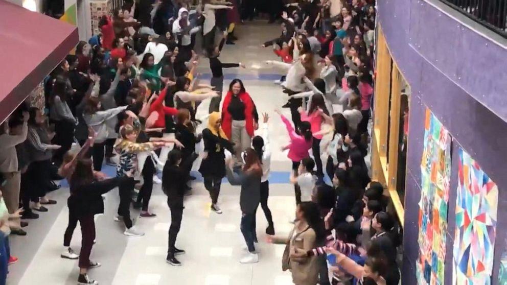 Retiring officer gets surprise flash mob