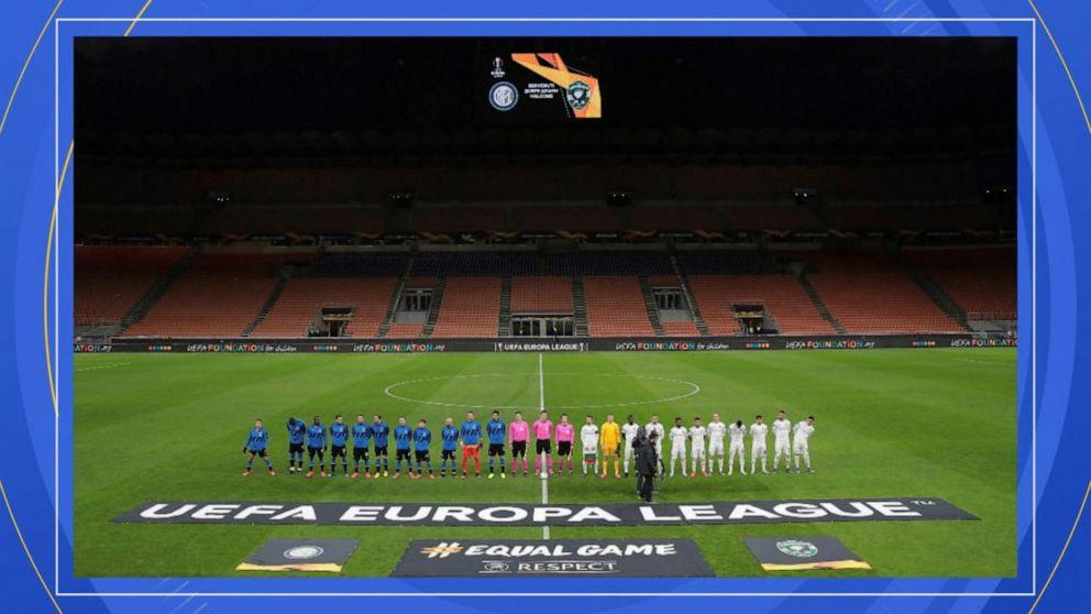 Italian soccer powerhouse plays in front of empty stadium