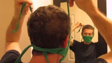 VIDEO: Have a clean t-shirt to spare? That's all you need to make this face mask