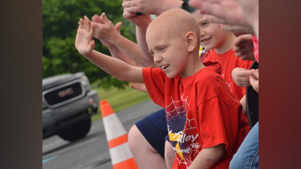 651 vehicles show up for surprise birthday of 8-year-old fighting cancer