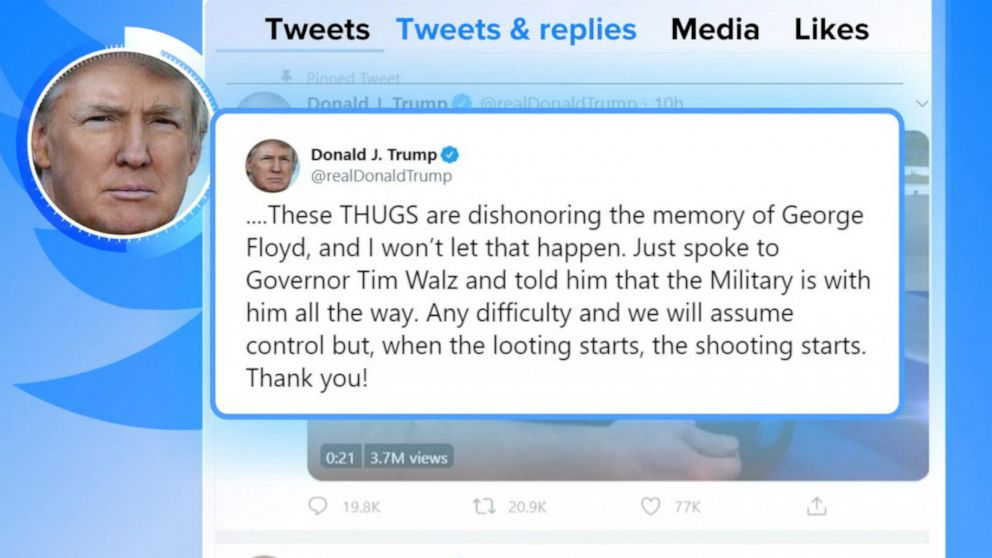 Twitter flags Trump, White House for 'glorifying violence' in ...