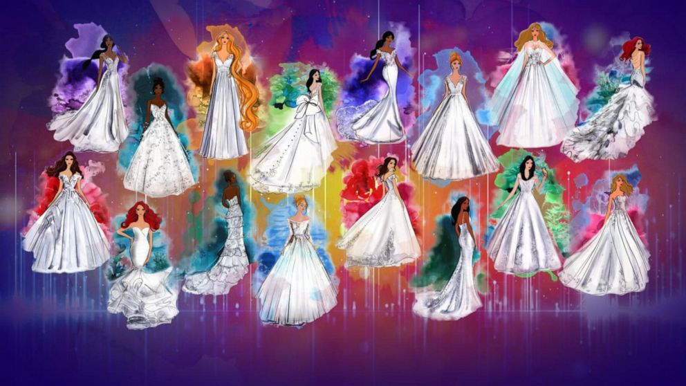 Allure Bridals releases new Disney Princess-inspired wedding gowns