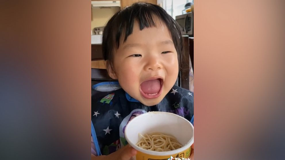 TikTok baby tries all kinds of tasty food and is totally adorable at the same time