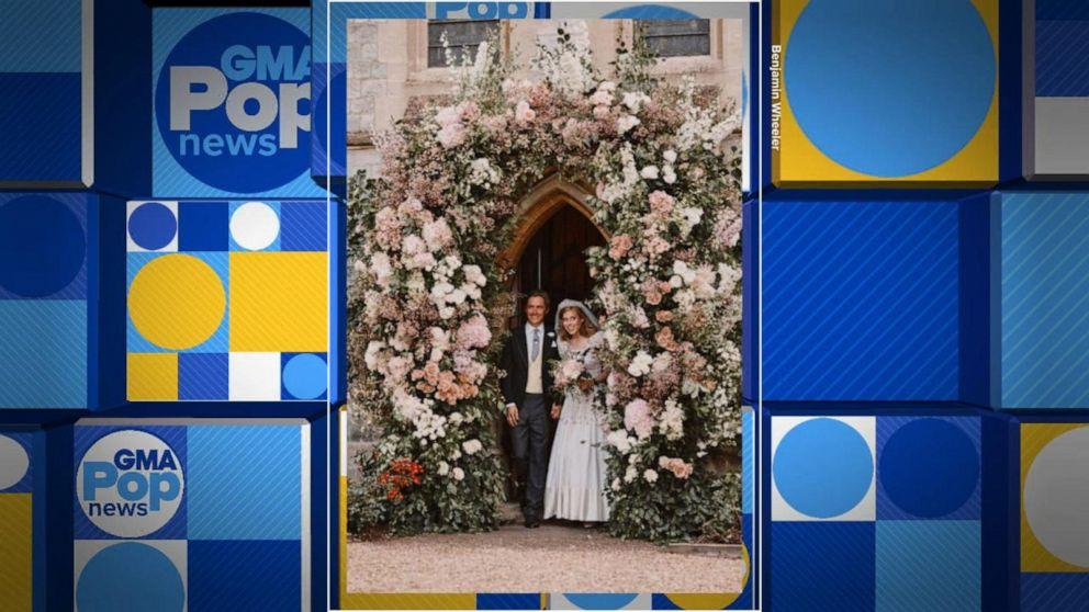 Princess Beatrice Wears Queen Elizabeth S Dress For Wedding Video