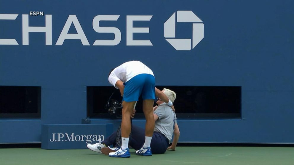Tennis Star Novak Djokovic Abruptly Disqualified From Us Open Video Abc News