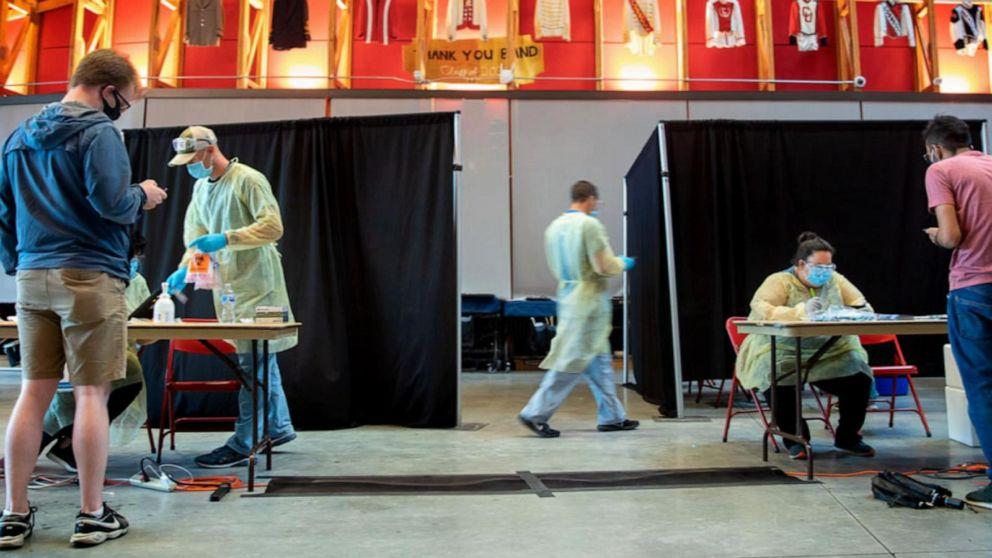 COVID-19 testing facility at Cornell
